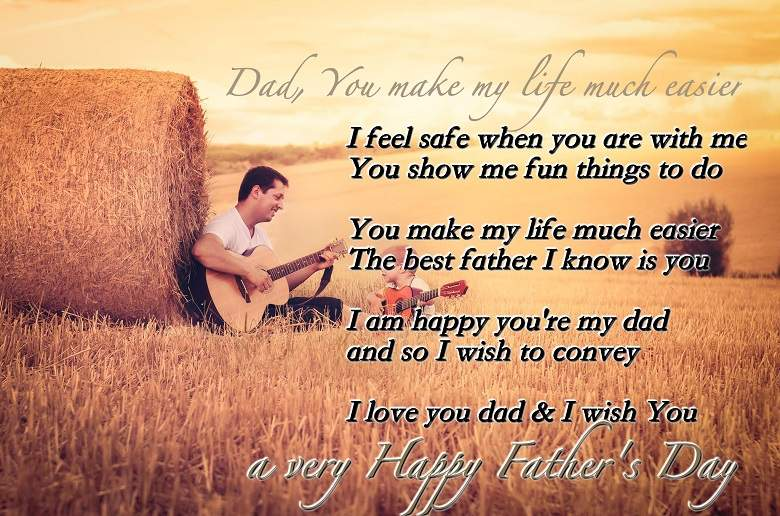 Happy Fathers Day Poems From Daughter Son 2018 Funny Short Poetry