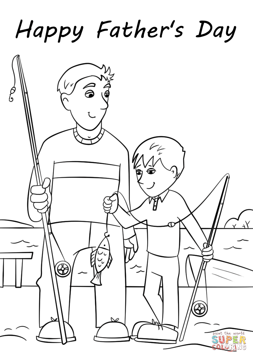 Cool Fathers Day Coloring Pages