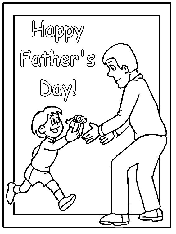 Fathers Day Coloring Sheets