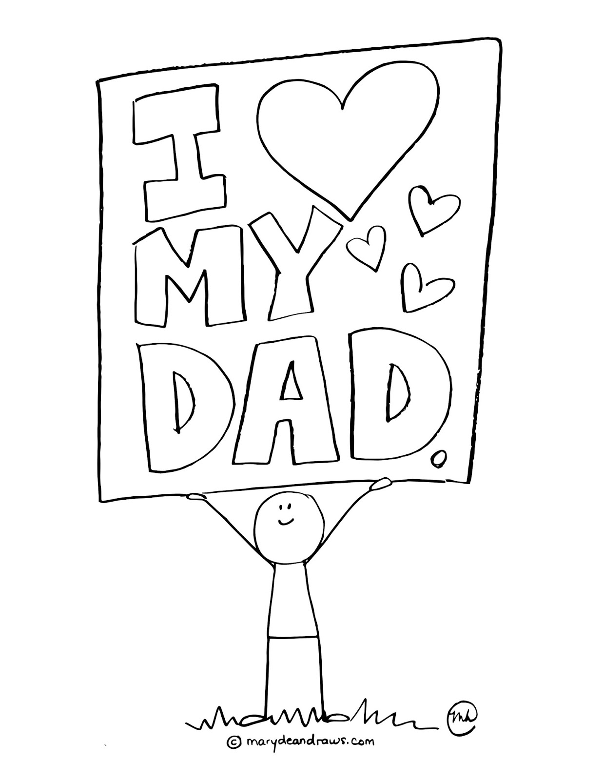 I Love My Dad Coloring Pages