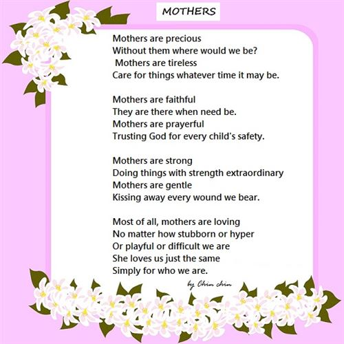 Happy Mothers Day Poems